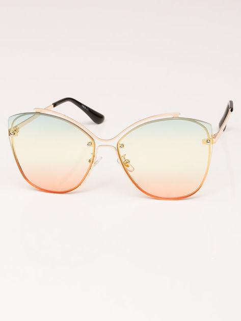 VICS Okulary przeciwsłoneczne damskie złote szkło multicolor                              zdj.                              2