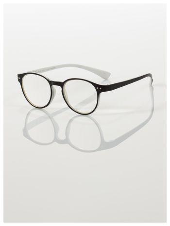 Okulary korekcyjne  +1.5 D dwukolorowe ,do czytania, stylizowane na RAY BAN +GRATIS PLASTIKOWE ETUI I ŚCIERECZKA Z MIKROFIBRY                                  zdj.                                  1