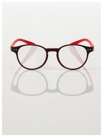 Okulary korekcyjne  +3.0 D dwukolorowe ,do czytania, stylizowane na RAY BAN +GRATIS PLASTIKOWE ETUI I ŚCIERECZKA Z MIKROFIBRY                                  zdj.                                  3