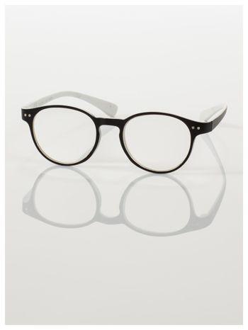Okulary korekcyjne  +3.0 D dwukolorowe ,do czytania, stylizowane na RAY BAN +GRATIS PLASTIKOWE ETUI I ŚCIERECZKA Z MIKROFIBRY                                  zdj.                                  2