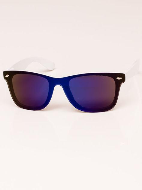 Okulary przeciwsłoneczne unisex biało-czarne Szkło niebieskie