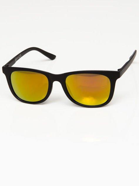 Okulary przeciwsłoneczne w stylu WAYFARER lustrzanki żółto-złoto-pomarańczowe                              zdj.                              2