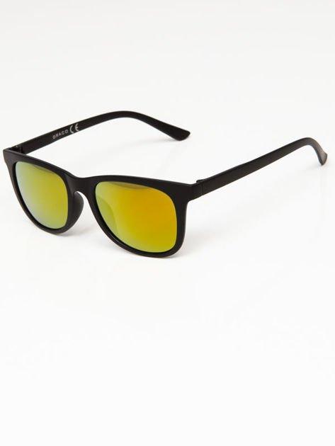 Okulary przeciwsłoneczne w stylu WAYFARER lustrzanki żółto-złoto-pomarańczowe                              zdj.                              1