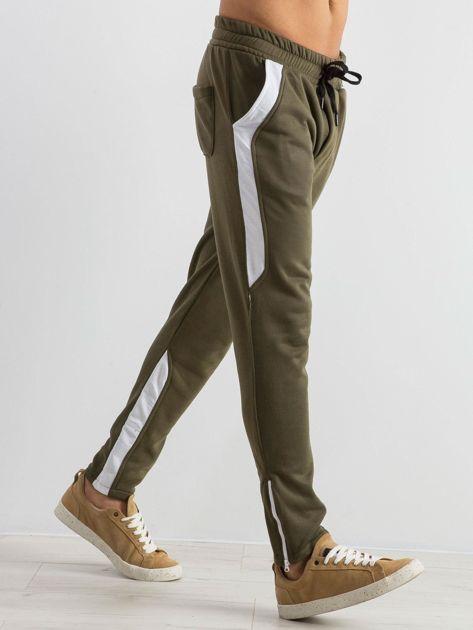 Oliwkowe spodnie dresowe męskie Durable                              zdj.                              4