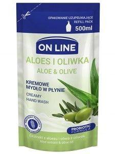 On Line Mydło w płynie kremowe Aloes i Oliwka - uzupełnienie  500 ml