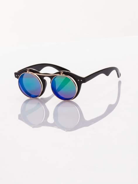 Otwierane okulary przeciwsłoneczne w stylu vintage retro lustrzanki                                  zdj.                                  1