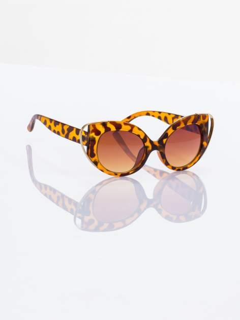 PANTERA okulary KOCIE OCZY przeciwsłoneczne w stylu vintage typ MARLIN MONROE ze złotymi elementami                                  zdj.                                  1