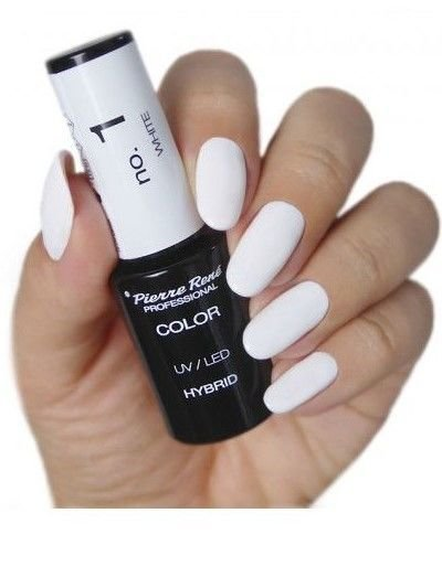 PIERRE RENE Color LED UV Hybrid/ Lakier hybrydowy 001 WHITE 6 ml                              zdj.                              3
