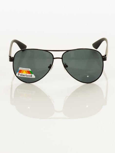 POLARYZACJA Czarne okulary pilotki                                   zdj.                                  5