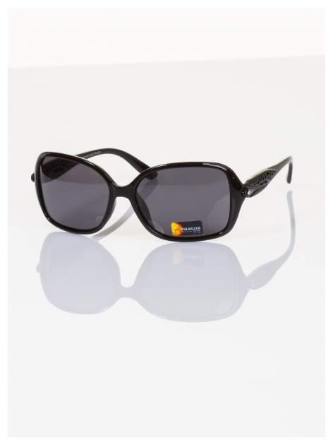 POLARYZACJA Przepiękne duże okulary blogerek ze zdobieniami ażurowymi+GRATISY                                  zdj.                                  1