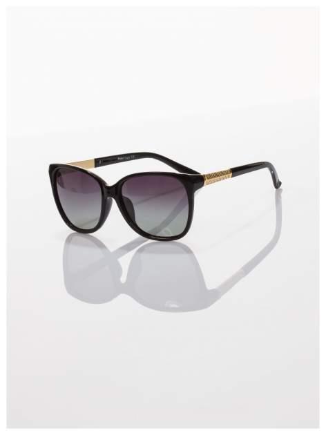 POLARYZACJA piękne stylowe okulary przeciwsłoneczne KLASYKA złote zdobienia+GRATISY