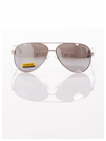 POLYCARBON PRIUS- Pilotki odporne na zarysowania ,unisex okulary przeciwsłoneczne z systemem FLEX na zausznikach                                  zdj.                                  2