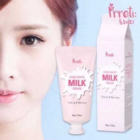 PRRETI Koreański rozświetlający krem z proteinami mleka 50 g                              zdj.                              2
