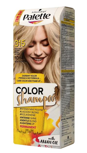 "Palette Color Shampoo Szampon koloryzujący  nr 315 (10-4) Perłowy Blond  1op."""