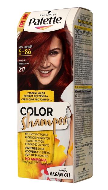 "Palette Color Shampoo Szampon koloryzujący  nr 5-86 (217) Mahoń  1op."""
