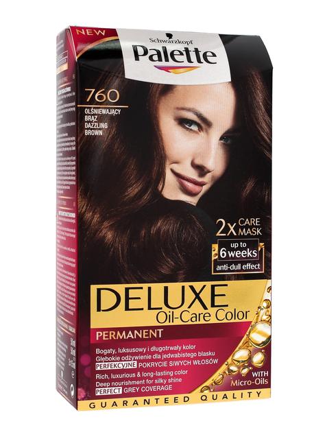 """Palette Deluxe Farba do włosów permanentna nr 760 Olśniewający Brąz  1op."""""""