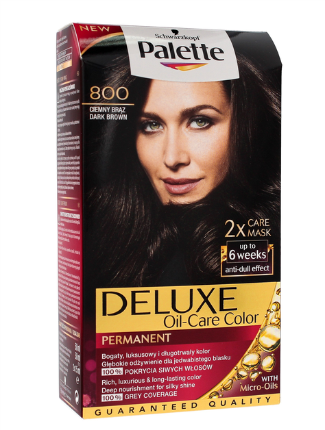 """Palette Deluxe Farba do włosów permanentna nr 800 Ciemny Brąz  1op."""""""
