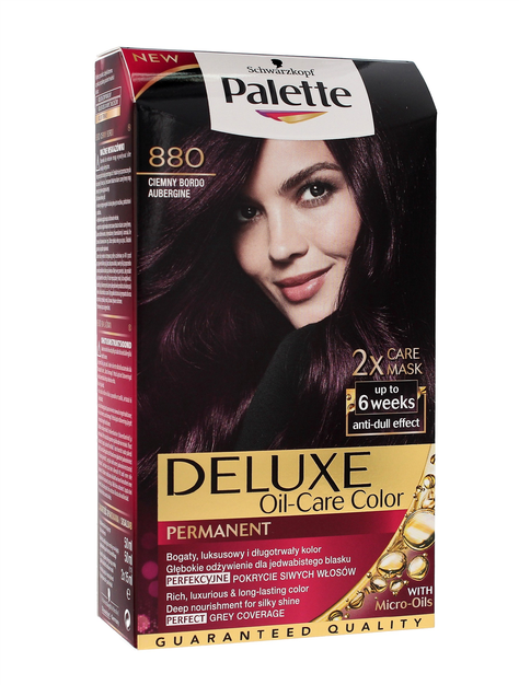 """Palette Deluxe Farba do włosów permanentna nr 880 Ciemny Bordo  1op."""""""