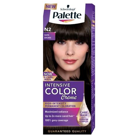 "Palette Intensive Color Creme Krem koloryzujący nr N2-ciemny brąz  1op."""
