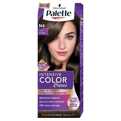 "Palette Intensive Color Creme Krem koloryzujący nr N4-jasny brąz  1op."""