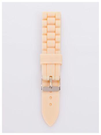 Pasek silikonowy do zegarka 20 mm - beżowy                                  zdj.                                  1