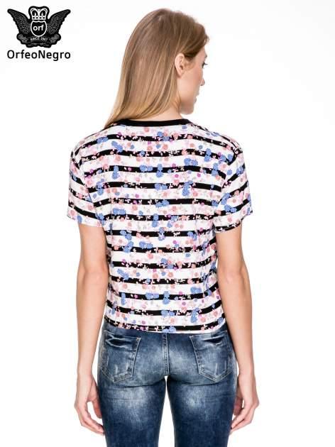 Pasiasty t-shirt z napisem GOOD ENOUGH                                   zdj.                                  4