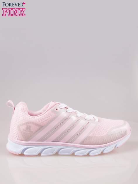Pasteloworóżowe buty sportowe damskie z elastyczną podeszwą