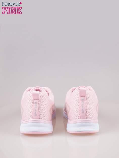 Pasteloworóżowe buty sportowe textile Lovegame z elastyczną podeszwą                                  zdj.                                  3