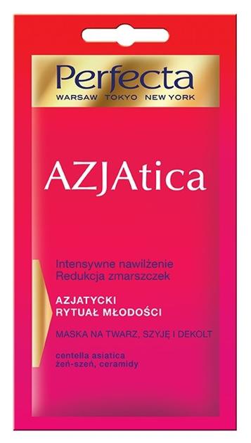 Perfecta Azjatica Maska na twarz, szyję i dekolt - Nawilżenie i redukcja zmarszczek 8 ml