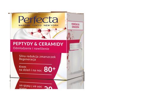 """Perfecta Peptydy & Ceramidy 80+ Krem na dzień i noc Silna Redukcja zmarszczek i regeneracja 50ml"""""""