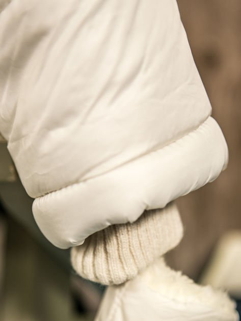 Pikowany zimowy kombinezon dziecięcy biały                              zdj.                              7