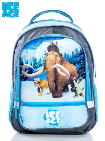 Plecak szkolny ICE AGE COLLISION COURSE szaro-niebieski