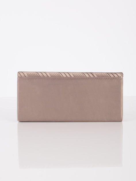Plisowana elegancka kopertówka khaki                              zdj.                              3