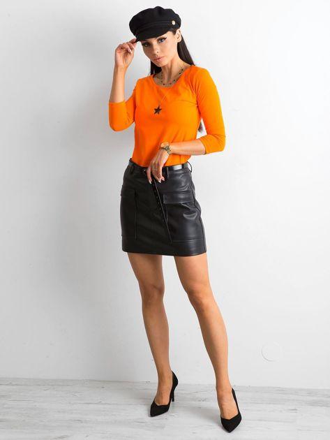 Pomarańczowa bluzka Mona                              zdj.                              4