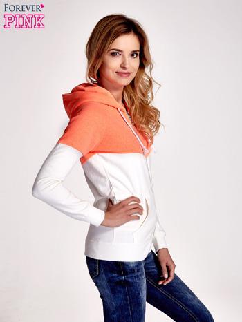 Pomarańczowa bluza z białym pasem                                  zdj.                                  3