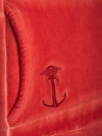 Pomarańczowa bluza z kapturem z efektem sprania                                  zdj.                                  6