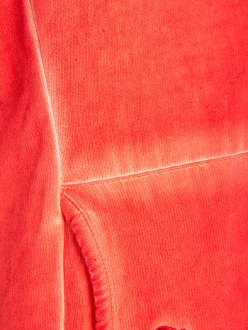 Pomarańczowa bluza z kapturem z efektem sprania                                  zdj.                                  7