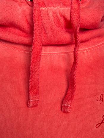 Pomarańczowa bluza z kapturem z efektem sprania                                  zdj.                                  10