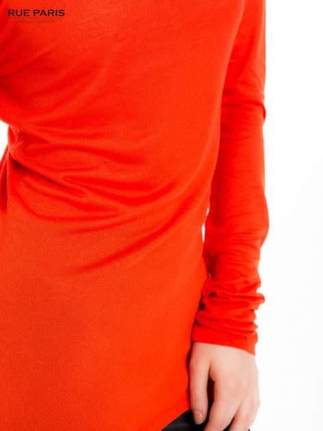 Pomarańczowa bluzka z dekoltem na plecach                                  zdj.                                  6