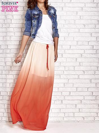 Pomarańczowa długa spódnica maxi z efektem ombre                                  zdj.                                  2