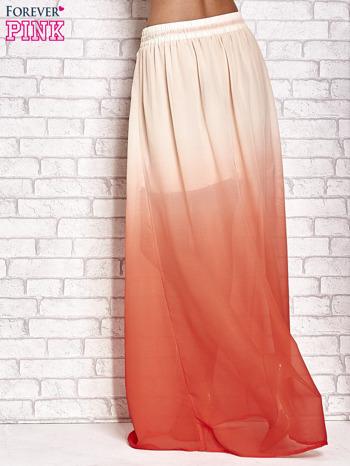 Pomarańczowa długa spódnica maxi z efektem ombre                                  zdj.                                  3