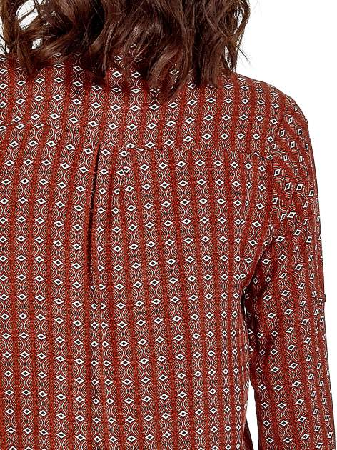 Pomarańczowa koszula w geometryczne wzory                                  zdj.                                  8