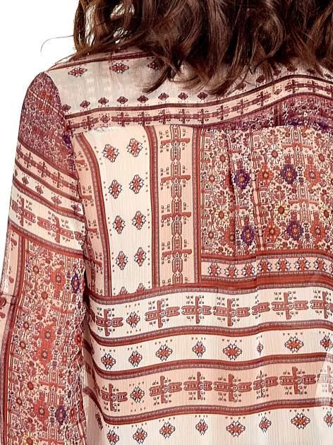Pomarańczowa koszula we wzory w stylu etno                                  zdj.                                  8