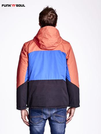Pomarańczowa kurtka męska z kolorowymi modułami FUNK N SOUL                                  zdj.                                  3