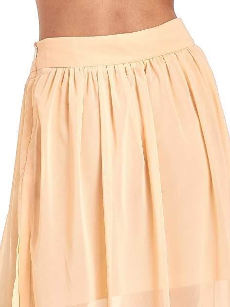 Pomarańczowa spódnica maxi transparentna                                  zdj.                                  7