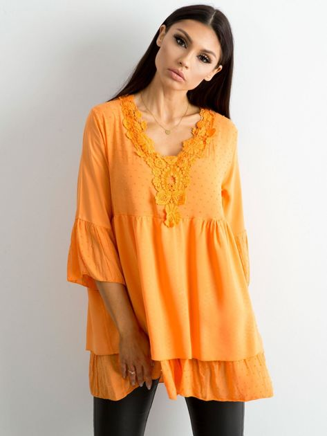 Pomarańczowa tunika boho