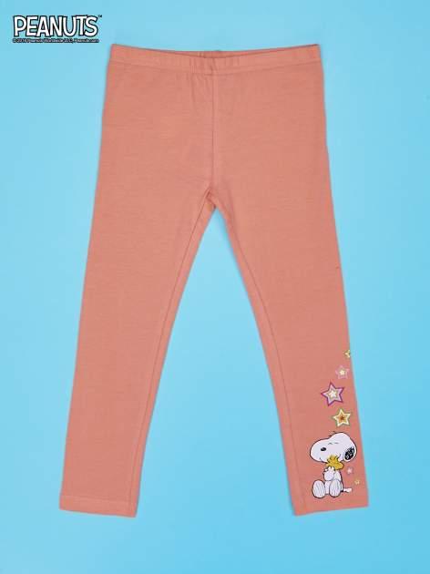 Pomarańczowe legginsy dla dziewczynki SNOOPY