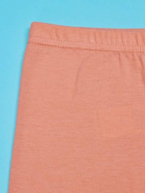 Pomarańczowe legginsy dla dziewczynki SNOOPY                                  zdj.                                  4