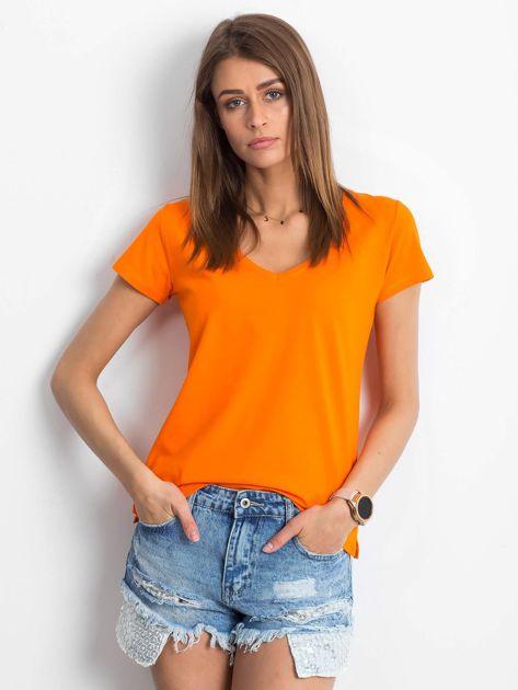 Pomarańczowy t-shirt Square                              zdj.                              1