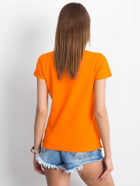 Pomarańczowy t-shirt Square                              zdj.                              2